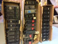 Electrical breakers different brands