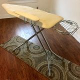 Vintage Ironing Board with Attached Iron Rack