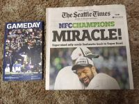 "*** Seahawks 2015 NFC Championship ""MIRACLE"" Seattle Times Newspaper & ""GAMEDAY"" Program***"