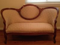 $450, Victorian Settee Loveseat Sofa Couch