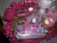 Babies basket for Easter bunny and Minnie mouse night light two Minnie mouse wildfires and minnie mouse shoes and Minnie mouse table top