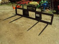 Quad spear for skid steer or tractor NEW carry 2 round bales