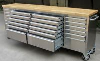 "96"" Long Stainless Steel Tool Chest"
