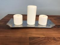 Candle tray with candles