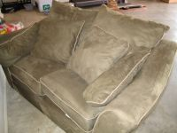 Love seat and oversized chair