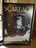 Scarface and Sopranos framed pictures