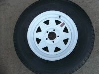 """Purchase TWO ST205/75R15 Radial Boat,Camper, Trailer Tires Load Range C 5 on 4.5"""" wheels motorcycle in Dyersburg, Tennessee, United States"""