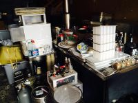$1, Storage Unit Closeout furniture, tools, dishes, cookware, bar equip