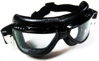 Purchase Emgo Roadhawk Black Riding Goggles motorcycle racing curved clear lens anti-fog motorcycle in Canyon Country, California, US, for US $20.00