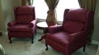 $198, 2 Wingback Chairs, 2 Mirrors, L, Table