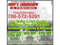 TONY'S LAWNSCAPE & FENCING YEAR-ROUND SERVICE FREE ...
