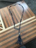 Women s beautiful long blue necklace. Paid 24.99 for.