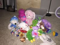 Bin with 20+ stuffed toys - HUGE MOVING SALE!