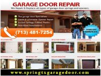 Garage Door Spring Repair only on starting $26.95 | Spring, TX