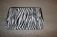 ***Zebra Striped Zippered Laptop Sleeve***