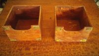 Small wooden boxes both for 1.00