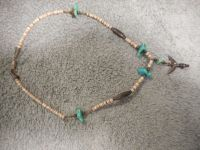 Zuni Knifewing Necklace turquoise And Sliver Vintage
