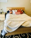 Queen MALM IKEA bed frame and Sealy Mattress, great condition