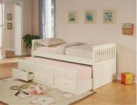 Girls White Daybed Like New