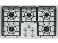 "GE 36"" Stainless Steel Gas Cooktop JGP633SETSS"