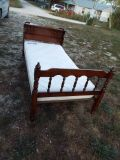 Bed*Single*Complete*Vintage*Mattress,Box Spring,Head & Foot Board