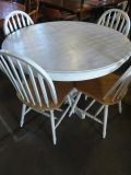 Round White Table with 4 chairs
