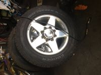 Chevy pick up wheel and tire set