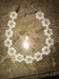 White with pearl floral necklace