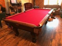 Pool table solid oak and magogany