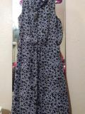 Navy dress with daisies