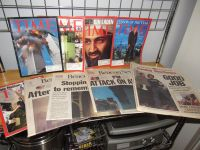 Reduced~Twin Towers 9/11 Time Magazines and Newspapers