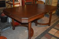ANTIQUE SOLID WOOD DINING TABLE