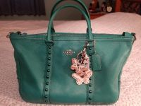 Coach leather green bag