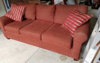 Burgundy/brownish sofa