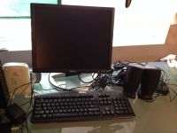 NEW DELL 1704FPTt monitor, keyboard and 2 speakers