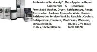 Professional Service on washers, Dryers, Refrigerators (Valleywide)