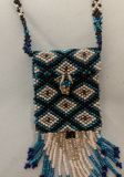 Vintage Beaded Amulet Necklace