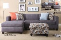 $399, Charcoal 2pc Microfiber Sectionals Reversible