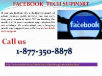 You are in dire straits; don't be troubled Facebook Tech support 1-877-350-8878  is there