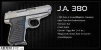 For Sale: In stock - NIB JIMENEZ ARMS J.A. .380 Semi Auto PISTOL W/2 MAGS