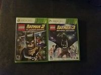 xbox360 batman lego2 and 3