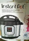 Instant Pot 7 in 1 multi-use programmable pressure cooker.