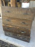 4 Vintage Project Drawers w/ Handles