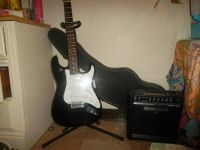 guitar, , case, stand and strings for sale