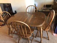 Wood table w/ 4 chairs