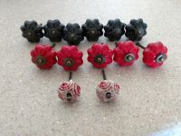 Lot of 13 ceramic scallop knobs- never been used.