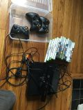 Console Xbox 360 controllers and games