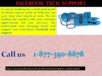 Enjoy unprecedented services now with our Facebook Tech Support 1-877-350-8878