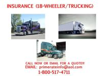 __18 TRUCKING-WHEELER INSURANCE CALL NOW FOR A FREE QUOTE... (ALL TEXAS)