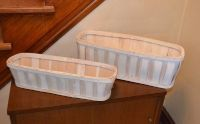 Crate & Barrel Wood Baskets (2)